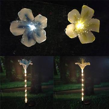 fiberoptisk blomst dekoration lys
